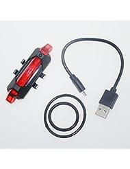 NSD USB rechargeable à LED pour vélo 5lampes LED 4lumière rouge LED pour vélo arrière Lampe chauffante