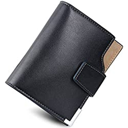 Taslar Stylish Leather Wallet Credit Card And Money Holder - Black