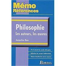 MEMO REFER.PHILOSOPHIE AUTEURS OEUVRES    (Ancienne Edition)