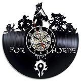 Meet Beauty World of Warcraft Kunst Vinyl Wanduhr Geschenk Zimmer Modern Home Record Vintage Dekoration