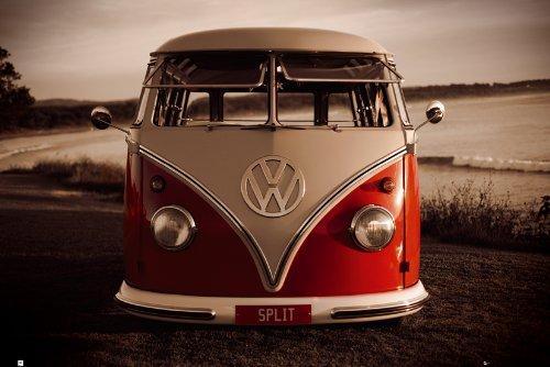 GB eye LTD, VW (Brendan Ray), Red Kombi, Maxi Poster, 61 x 91,5 cm