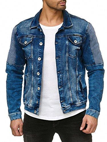 Red Bridge Herren Jeansjacke Biker Style Jeans Jacket Blue Denim Jacke Blau M6058 M - 2
