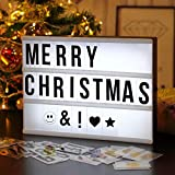 AGM Light Sign super Perfect DIY LED scatola decorativa con 90 lettere numeri simboli per festival,...