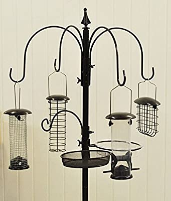 New Premium Hammertone Bird Feeding Station Set With Feeders Wild Feeders Birds from a2z-discounts