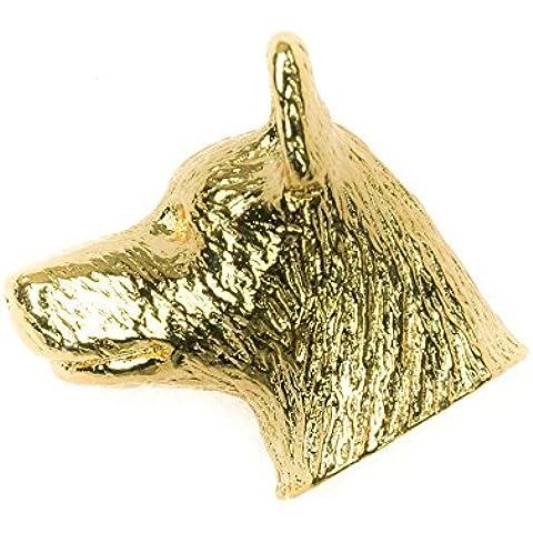 Pastor ganadero australiano Hecho en Reino Unido Artístico Perro Pin Insignia Colección (bañoda en oro de 22