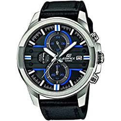 CASIO Edifice Men's Quartz Watch with Multi-Colour Dial Analogue Display and Black Leather Strap EFR-543L-1AVUEF
