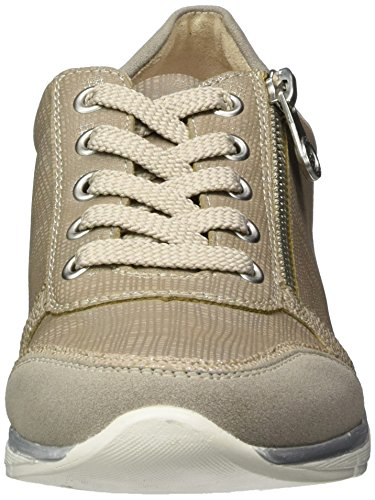 Rieker Damen N4020 Sneakers Grau (Vapor/perle-Silber/fango-silver / 40)