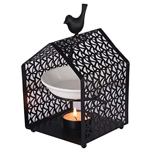 Singeek Teelichthalter aus Keramik, Buddha-Kopf, ätherische Öl-Brenner, Kerze, Aroma-Diffusor für Spa, Yoga, Meditation House Bird (Brenner Wasser Für Und öl)