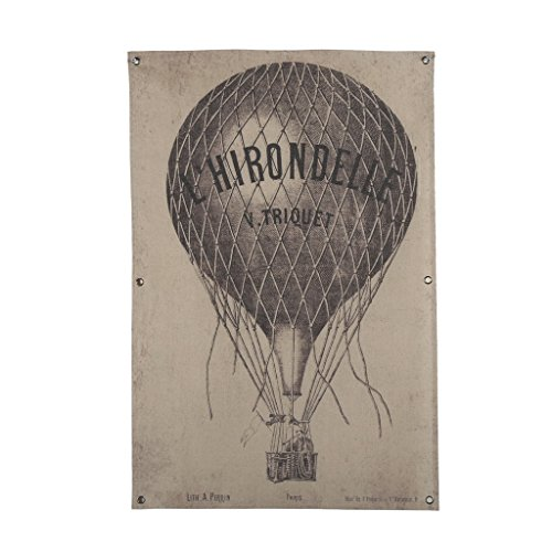 Price comparison product image OYGROUP Retro Vintage Old Hot-air Balloon Painting(Length 24xHeight 36 Inches)Linen Painting No Frame Wall Decor Bar Hotel Coffee Shop Office Home Bedroom Decoration