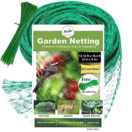 chutznetz - schützt Pflanzen Obst, Bäume, Heidelbeeren, Eichhörnchen, Landwirtschaft, mit 50 Nylon-Kabelbindern, sofort wiederverwendbar Small Size ()