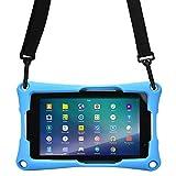 7'' Tablet Funda, Cooper Trooper 2K Funda Protectora Robusta de Gran Resistencia con asa para Colgar del Hombro y Soporte Incorporado para 7'' Pulgadas Tablet (Azul)
