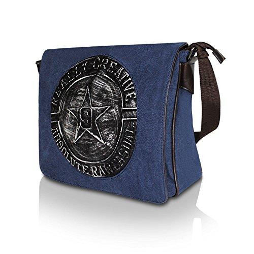 c99ceb8a10810 Glamexx24 Tasche Handtaschen Schultertasche Umhängetasche mit Stern Muster  Tragetasche TE201620 23117a2 Blau ...