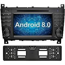 Ohok 7 Pollici Android 8.0.0 Oreo Octa Core 4G+32G 2 Din In Dash Autoradio Schermo di Tocco Lettore DVD Navigatore GPS Con Bluetooth Per Mercedes-Benz C-Class W203 / Benz CLK W209 con telecamera di retromarcia