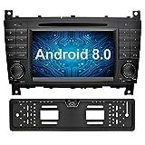 Ohok 7 Zoll Bildschirm 2 Din Autoradio Android 8.0.0 Oreo Radio mit Navi DVD GPS Navigation Unterstützt Bluetooth WLAN DAB+ für Mercedes-Benz C-Class/CLK mit Rückfahrkamera