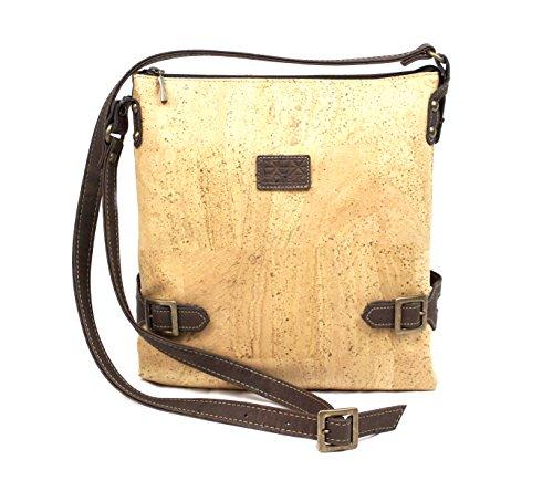 VEGAN CROSS BODY BAG FOR WOMAN by Dux Cork GENUINE PORTUGUESE PREMIUM Cork Fabric Leather Fashion ANIMAL FREE Designer