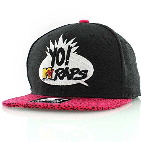 mtv-starter-casquette-snapback-mt006-mtv-rap-black-pink-logo-taille-unique