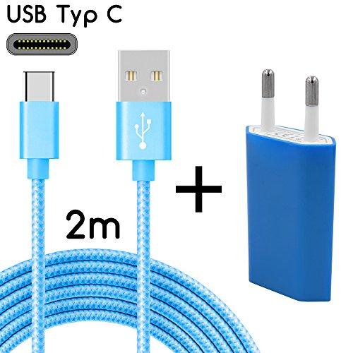 TheSmartGuard USB-C Ladegerät / 2in1 Ladeset / USB-Typ-C Ladekabel mit Netzteil / Netzstecker für S9, S9+, S8, A8, A8+, Note 8, Sony XZ, XA1, XZ1, HTC 10, U11, Huawei P10 - Netzteil S9