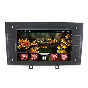 lsqSTAR Pour PEUGEOT 308/408 7 Inch Écran Tactile DVD de Navigation GPS Android 4.4, Gratuit Carte