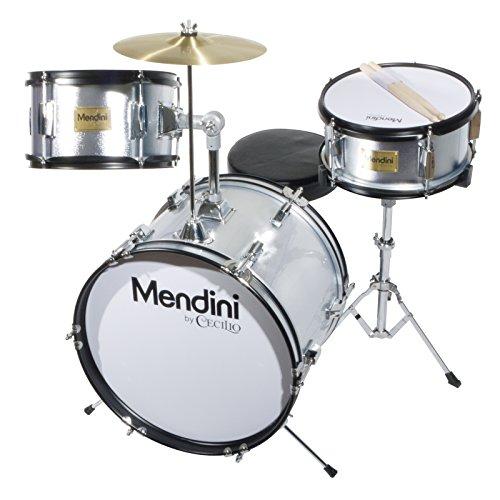mendini-mjds-3-sr-junior-drum-set-silver