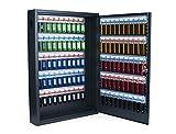 Unbekannt Pavo 8047222 Deluxe Schlüssel-Kasten/Schrank/Tresor, 100 Haken mit Seitlichem Schlüsseleinwurf, Dunkelgrau