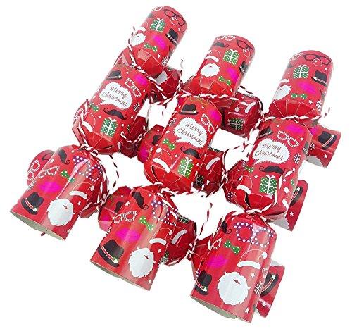Toyland Packung mit 6 - Foto Requisiten Weihnachten Cracker - Selfie Foto Requisiten (Weihnachts-requisiten Fotos Für)