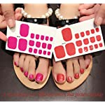 QCBC Full Nail Toes Stickers,Gradient color Style 20 Decals/sheet (Pack of 2 Sheets) 9