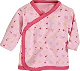 Schnizler Unisex Baby Hemd Wickelshirt, Flügelhemd, Erstlingshemd Langarm Allover, Oeko Tex Standard 100, Rosa (Rose 14), 50