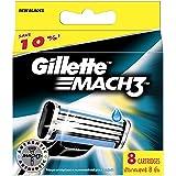 Gillette Mach 3 - Recambios para cuchillas de afeitar (8 unidades)