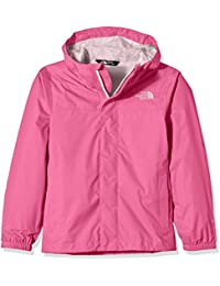 The North Face Zipline Rain - Chaqueta impermeable para niña, color rosa, talla XL