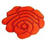 Antideslizante Rango de Rose Modern Shaggy Alfombras y Soft Bedroom Alfombra, 2, 90*90cm3d rose