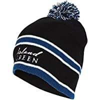 Island Green Men's Knitted Striped Bobble Hat