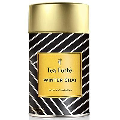 Tea Forte Winter Chai Edition limitée Thé Vrac Rooibos 90g - Winter Chai Loose Leaf Herbal Tea, 3.17oz Tea Tin by Tea Forté