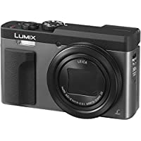 Panasonic Lumix DC-TZ90EG-S Cámara compacta digital de 20.3 MP (estabilización híbrida, 4K, 120 fps, lente LEICA, zoom 30X, Wifi y Post Focus) color plata