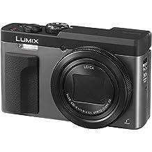 Panasonic Lumix DC-TZ90EG-S Cámara compacta digital de 20.3 MP (estabilización híbrida, 4K, 120 fps, lente LEICA, zoom 30X, Wifi y Post Focus) color plata