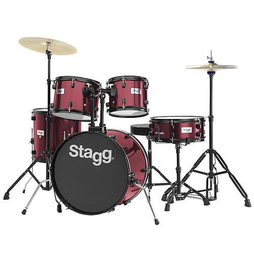 stagg-25020592-tim120b-drum-set-508-cm-20-zoll-5-stuck-inkl-hardware-mit-cymbal-throne-weinrot