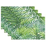 GOODSTHING napperon, Watercolor Palm Tree Placemat Table Mat, Tropical Palm Leaf 12'...
