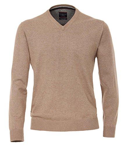 Casa Moda - Herren Pullover mit V-Ausschnitt in Verschiedenen Farben (004130A), Größe:5XL, Farbe:Beige (616)