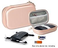 Protective Case for ToyPark Pocket Selfie Drone Quadcopter, GordVE GV002, LHI Quadcopter, EACHINE E50, JJRC H37, OKPOW, Kingtoys, Beone, Elastic Strap securing Drones, Pocket for Cable