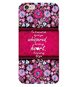 Beautiful Love Quote 3D Hard Polycarbonate Designer Back Case Cover for Apple iPhone 6 Plus