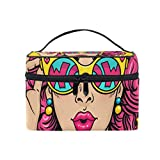 Wow Comics Women Cosmetic Bag Travel Makeup Pouch Storage Organiser for Women Girl