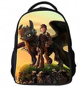 All wishes come true,How to Train Your Dragon des enfants de sacs à dos,école de sac à dos,Noir
