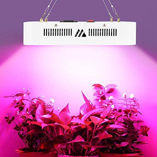 300W LED Grow Lampe mit Wachstumslampe Pflanzenlampe Vollspektrum IR UV Licht für Gewächshaus Gärtnerei Hydrokultur Zimmerpflanzen