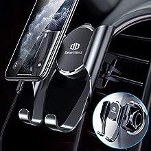 DesertWest - Supporto per cellulare da auto, universale, con funzione di promemoria automatica, per iPhone, Samsung, Huawei, LG e altri