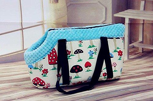 Efanr Portable Warm Pet Carrier Handbag with Zipper Small Medium Pet Dog Puppy Cat Travel Outdoor Carrier Printed Bag… 4
