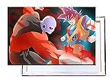 Jiren Vs Goku Dragon Ball Super - 60x40 cm - Bilder & Kunstdrucke fertig auf Leinwand aufgespannt und in erstklassiger Druckqualität