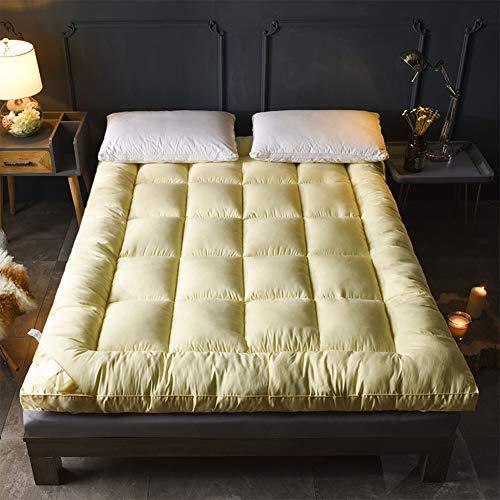 Baumwolle Matratzenbezug pad,Atmungsaktive Anti-allergen Gesteppter Fluffy Komfort Folding Topper Schlafauflage Home-Creme Farben 100x200cm(39x79inch) (Allergen Matratzenbezug)