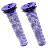 SPARES2GO Washable Pre Motor Stick Filters for Dyson DC58 DC59 DC61 DC62 V6 V8 Animal Vacuum Cleaner (Pack of 2)