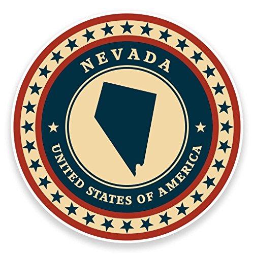 2 x 10cm/100mm Nevada USAVinyl SELBSTKLEBENDE STICKER Aufkleber Laptop reisen Gepäckwagen iPad Zeichen Spaß #9423