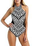 SunIfSnow Bikini Mädchen Badeanzug, Einfarbig Schwarz Schwarz