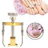 Professional Eingewachsene Zehennagel Korrektur Werkzeug mit Metallbox, Nagelzange Behandlung Ningewachsener Nägel–Vorbeugung gegen Entzundete, schmerzende Nägel (Gold)